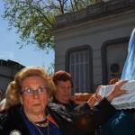 Procesión de la Virgen en el Centro Cultural Alma Gallega