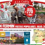 Propuestas de viajes de España vale para el mes de julio – Camino de Santiago – San Ferm� n – Barcelona -Machu Pichu