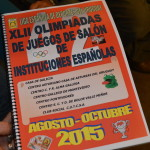 XLII Olimp� adas de juegos de salón de instituciones españolas – CLASIFICACIÓN GENERAL fotos