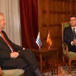 Encuentro entre presidentes Tabaré Vázquez – Alberto Núñez Feijóo y posterior conferencia de prensa.