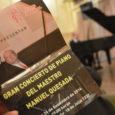 El Club español y el Centro gallego de Montevideo han organizado en conjunto el gran concierto de piano a cargo del maestro Manuel Quesada. El maestro Manuel Quesada, nacido en […]